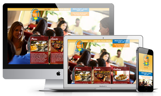 Responsive Restaurant Website Example Graphic