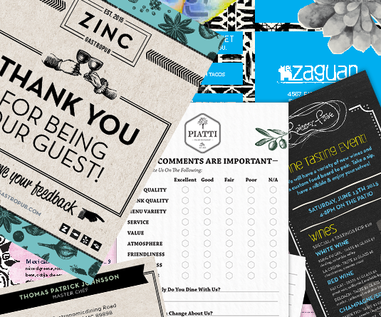 Web2Print Sample Collateral Montage